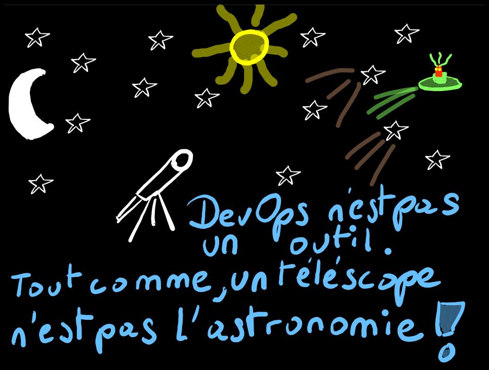 DevOps n'est pas un outil. Tout comme un télescope n'est pas l'astronomie !
